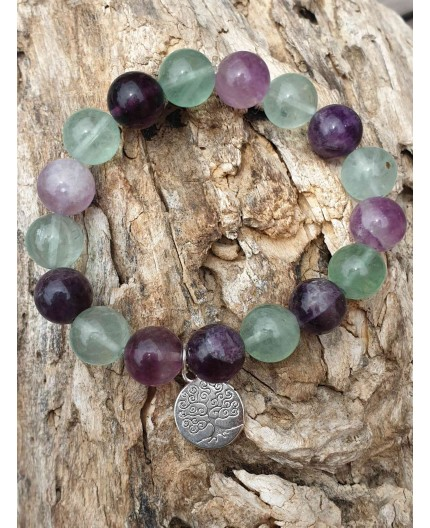 Bracelet Fluorite arbre de vie