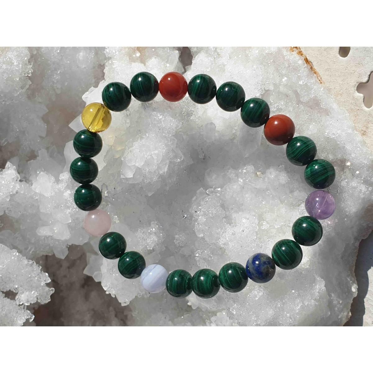 Bracelet 7 CHAKRAS // MALACHITE
