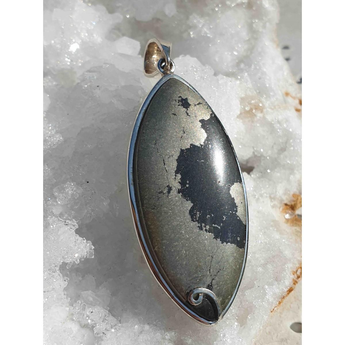 Pendentif Pyrite Gold Apache 'Oeil de l'Indien'