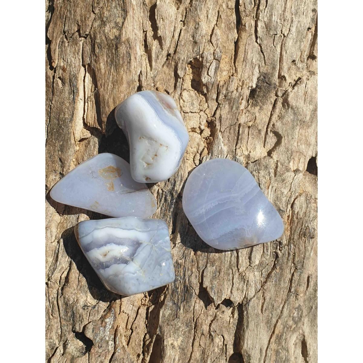 Calcédoine bleue (pierre roulée)