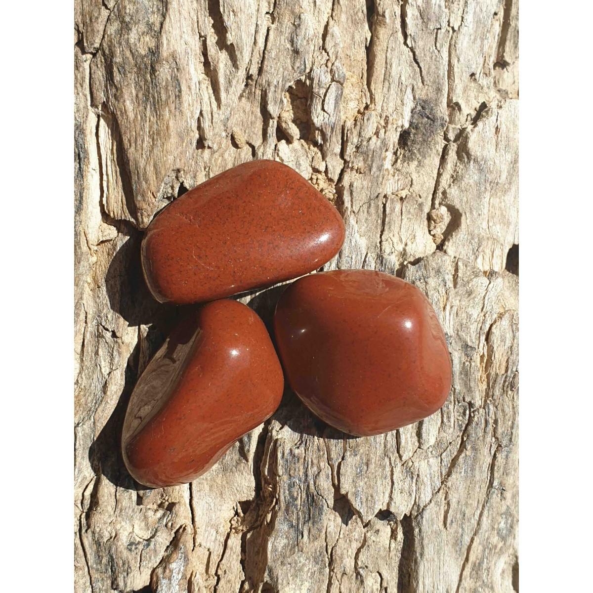 Jaspe rouge (pierre roulée)