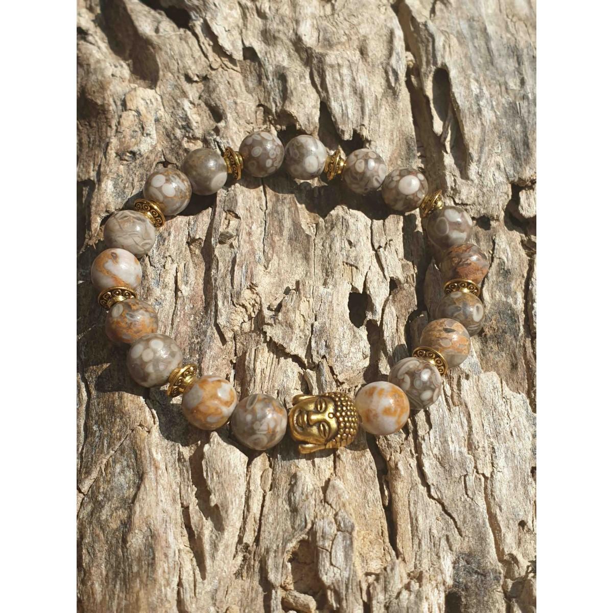 Bracelet Jaspe Maifan Buddha