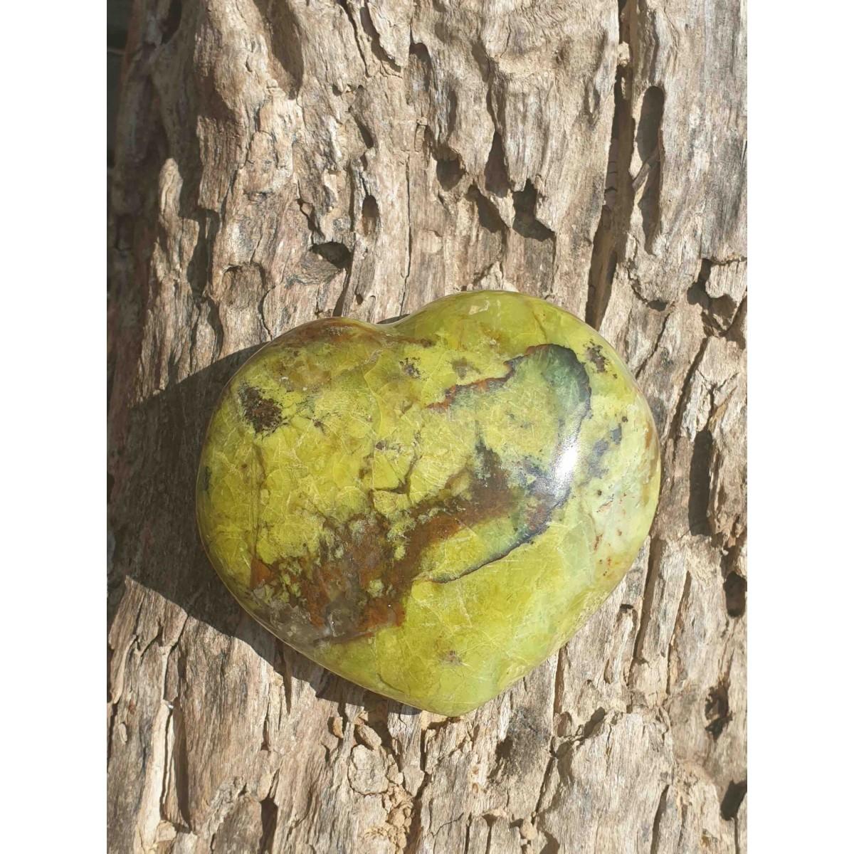 Cœur en Opale Verte